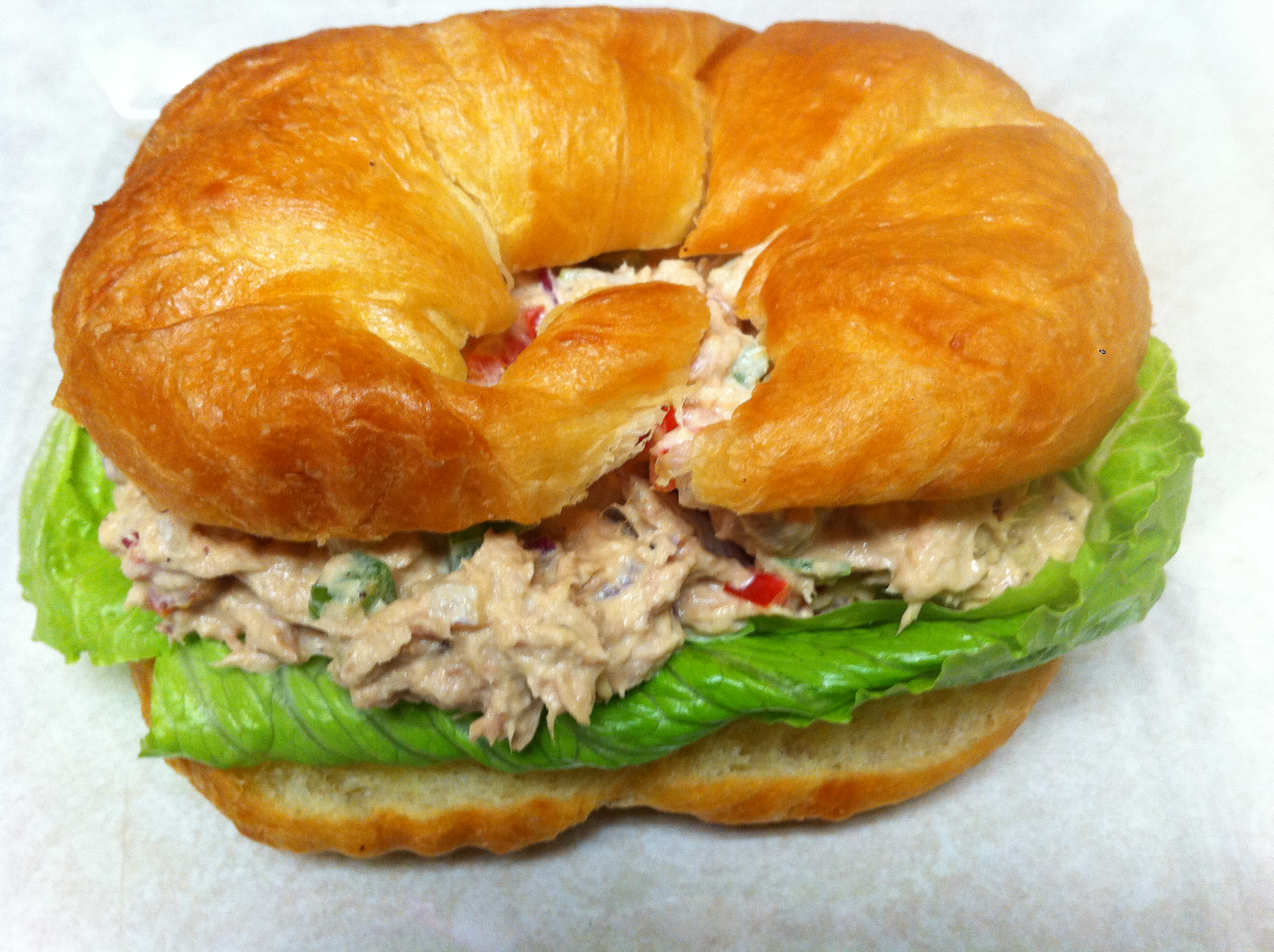 Tuna salad sandwich recipe dishmaps for Tuna and egg sandwich