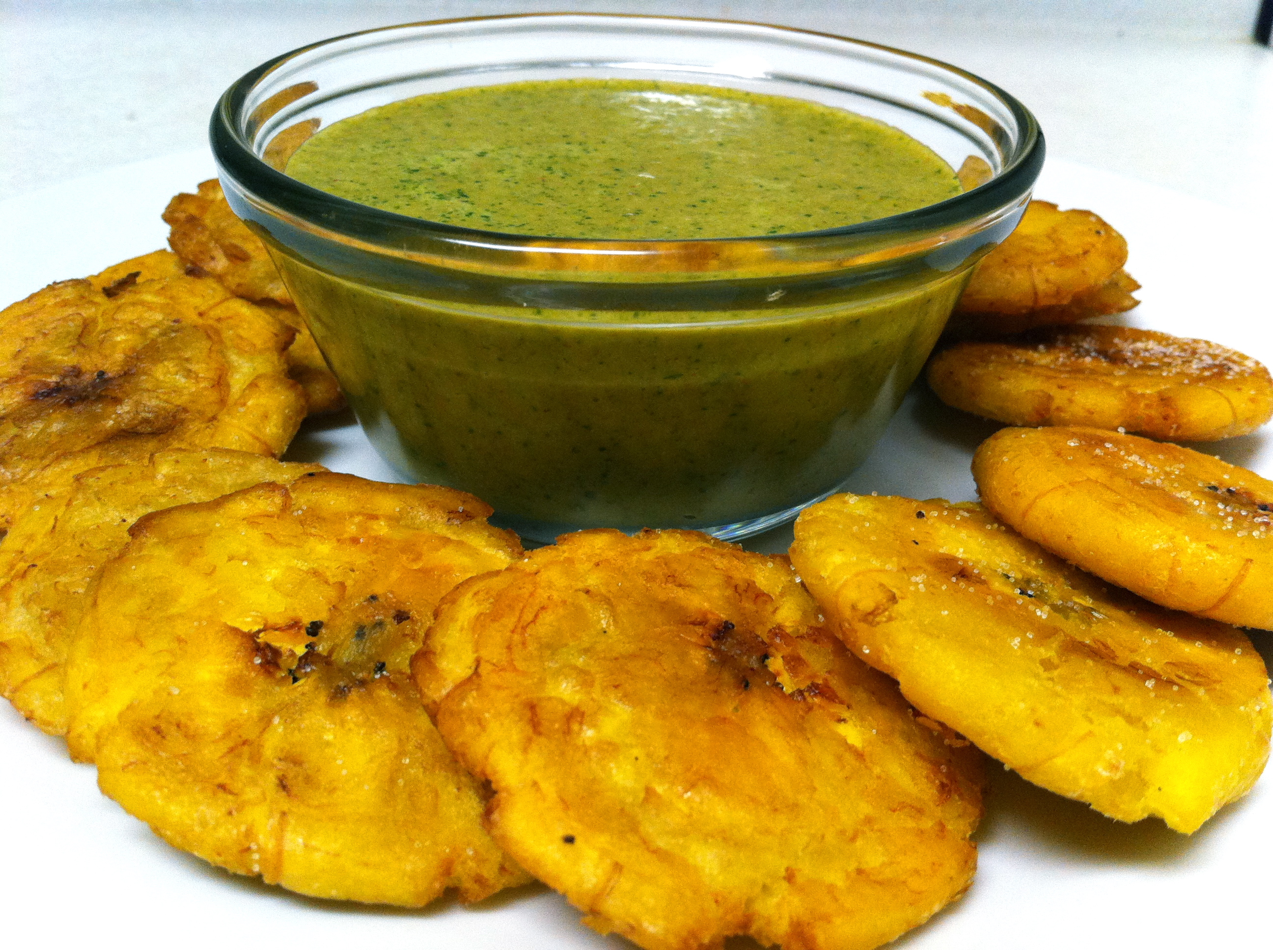 Tostones Plantain chips with sea salt (tostones) recipes — dishmaps
